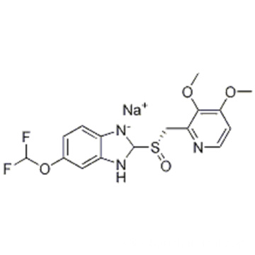 6-(Difluoromethoxy)-2-[(S)-[(3,4-dimethoxy-2-pyridinyl)methyl]sulfinyl]-1H-benzimidazole sodium salt CAS 160488-53-9